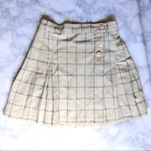 Dresses & Skirts - Plaid Ivory Skirt